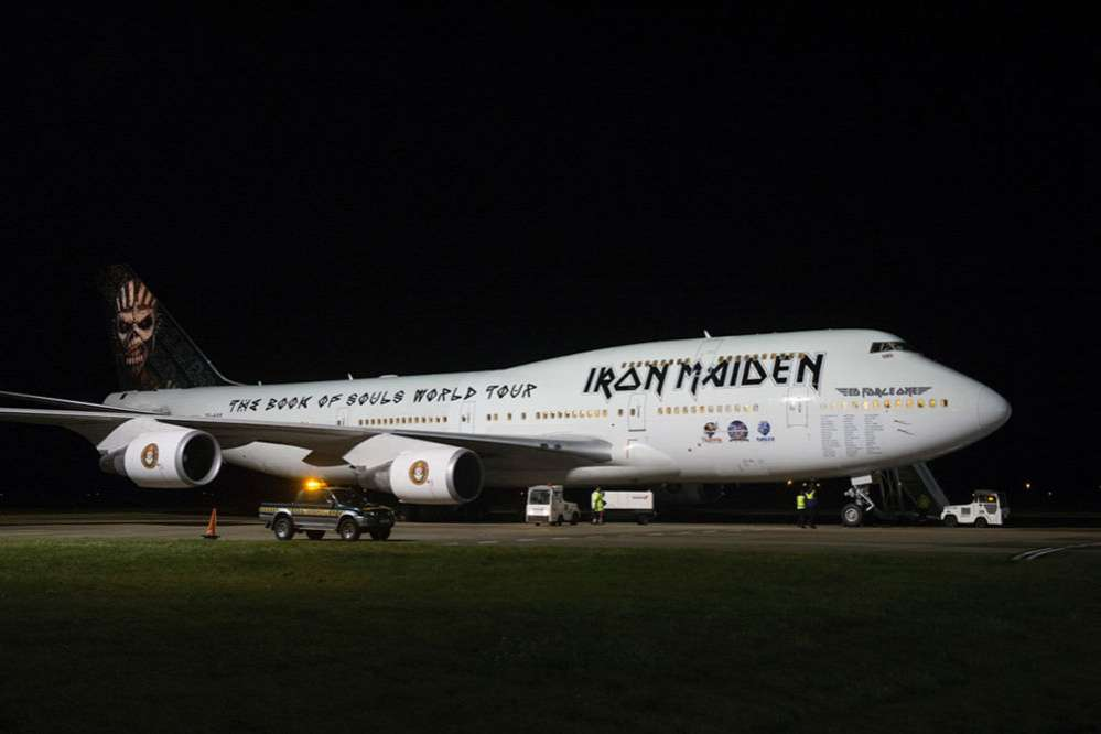 Iron Maiden Starts World Tour in Jumbo Jet