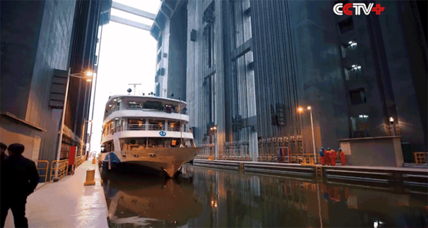 The Biggest Elevator In The World Lifts Giant Ships